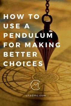 How to Use a Pendulum for Making Better Choices Crystal Pendulum, Crystal Healing Stones, Pendulum Board, Witchcraft For Beginners, Make Good Choices, Palmistry, Psychic Abilities, Guided Meditation, Book Of Shadows