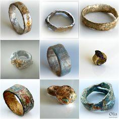 Papier mache jewelries