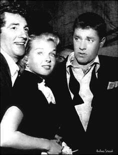 Jerry Lewis with Dean and Jeanne Martin