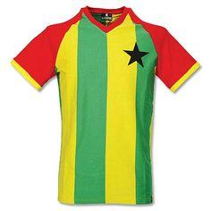 Camiseta Retro de Ghana 1980's Local (Preliminares Copa del Mundo) Retro Football, Football Kits, Uk Football, Retro Shirts, Vintage Shirts, Image Foot, Football Outfits, Soccer Shirts, Great Team