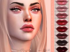 Lips in 25 colors.  Found in TSR Category 'Sims 4 Female Lipstick'