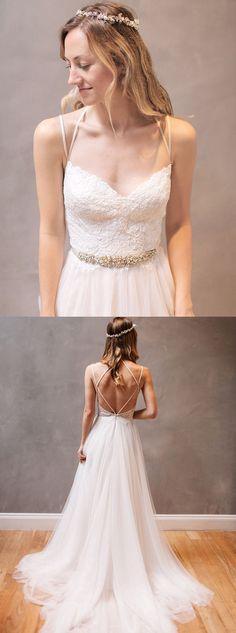 2017 wedding dresses,lace wedding dresses,backless wedding dresses,simple wedding dresses @simpledress2480