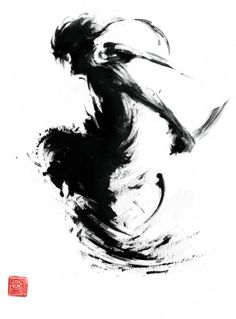 Chinese ink painting style illustrations by Jungshan wallpapers Samurai Tattoo, Samurai Art, Ink Illustrations, Illustration Art, Art Sketches, Art Drawings, Drawing Art, Tatoo Art, Ink Art