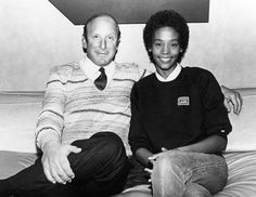 """Way to go, ABC News, for posting this photo of Whitney Houston with manager Clive Davis as """"Circa 1970."""" She would have been 7 then, so I'd say more like 1980."""
