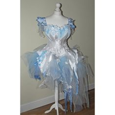 White and blue snowflaze frozen frost wedding by LyndseyBoutique  This is the inspiration for the corset that the lovely owner of this shop has graciously agreed to a commission for.