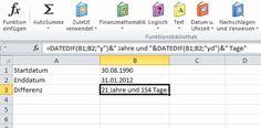 Mit Datumsangaben rechnen in Excel - gar nicht so einfach auf den ersten Blick. Aber mit unserer Anleitung wird es leichter.