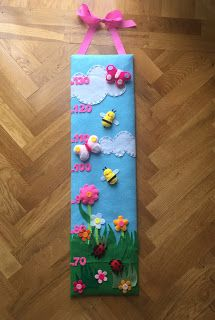 spring and summer time! Felt Crafts, Crafts For Kids, Board Decoration, Height Chart, Bedroom Themes, Felt Dolls, Summer Time, Spring Time, Art Education