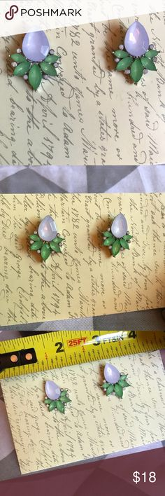 New! Statement earrings Pretty statement post earrings NWOT. Not sure where I got these but they are classic J Crew style. Silver tone. J. Crew Jewelry Earrings