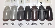 58 Ideas gel manicure colors winter grey for 2019 Gelish Nail Colours, Dip Nail Colors, Manicure Colors, Gel Polish Colors, Gelish Nails, Nail Polish, Grey Gel Nails, Dipped Nails, Nagel Gel