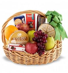 Deluxe Fruit Basket: Fruit Gift Baskets - A savory mix of fr