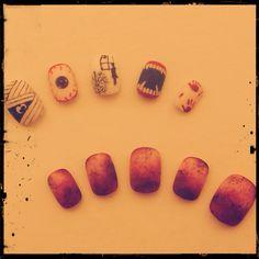 #Halloween#nail#real