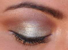 silver and brown shimmer #eyes #eyeshadow