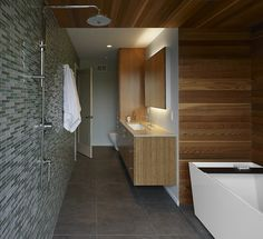 Rich material pallette - modern - bathroom - san francisco - At-Six Architecture