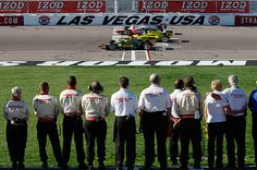 ISAAC BREKKEN / AP  Moving Tribute  Drivers take five tribute laps in honor of Wheldon. October 16, 2011.