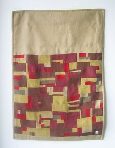 """""""the image above is a patch quilt wall hanging I made three years a go - it was based on arial images of field crops"""" ...from Arounna, """"one half of bookhou a design company based out of toronto, canada"""""""