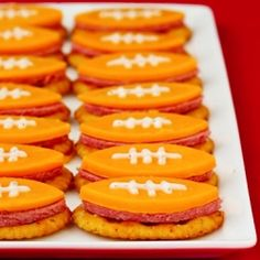 26 football shaped food ideas for your Super Bowl party!