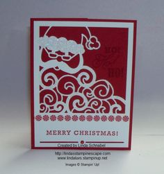 Detailed Santa Thinlits Die teamed up with the Greetings from Santa Stamp set. Details can be found on http://lindasstampinescape.com