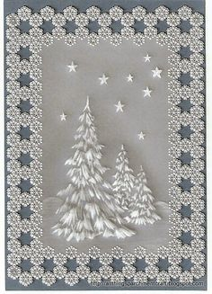 Handcrafted Parchment Xmas Card