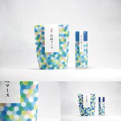 石垣マース                                                                                                                                                                                 もっと見る Fruit Packaging, Cool Packaging, Bottle Packaging, Brand Packaging, Packaging Design, Branding Design, Japanese Packaging, Print Patterns, Textures Patterns