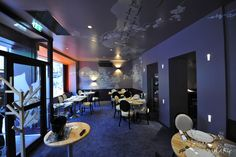 #décorationmurale grand format sur mesure restaurant Anna S. by Mel et Kio