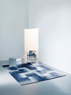 Deirdre Dyson SHADOWS graded wool and silk rug as styled for us by Louisa Grey.