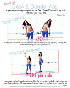 sleek & slender abs routine from Tone It Up Girls