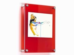 "- Frame 4x6"", 5x7"" or 8x10"" art and photos - Two panels of acrylic sandwich the art (clear front + red acrylic back) - Hang vertically or horizontally - Installs easily (template included) - Red is fr"