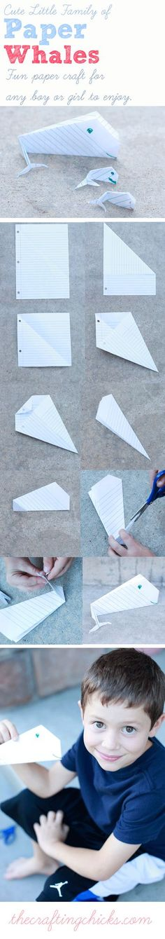 Cutest paper whales