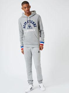 LE COQ SPORTIF Grey St. Etienne Hoodie* - Men's Hoodies & Sweatshirts - Clothing - TOPMAN