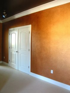 Metallic copper paint with Godiva chocolate ceiling