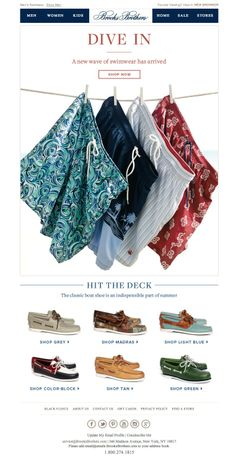 #newsletter Brooks Brothers 06.2014 The Coast is Clear - Swim Suits and Boat Shoes