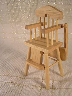 Dollhouse Miniature 1 12 Scale High Chair Baby Furniture Nursery
