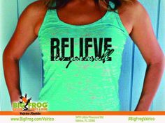 Big Frog Custom T-Shirts of Valrico Custom Tanks, What Inspires You, Workout Tanks, Free Design, Custom Made, Tank Man, Just For You, Florida, Fitness Shirts