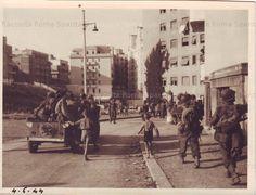 ingresso della V Armata nel quartiere Nomentano Trieste. Via Sirte. Trieste, Old Photos, Evergreen, Ww2, Rome, The Neighbourhood, Street View, Italy, In This Moment