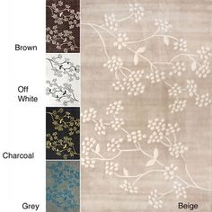 @Overstock - From Alexa Pino, this floral handmade rug is made of polypropylene and available in a number of colors. Soft, warm, and easy-to-clean, this rug can make your