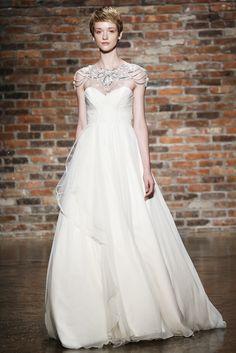 Yo quiero comer perdices contigo..  Vestido de novia de JLM Couture (FW 2014) #weddingdresses #NYBW