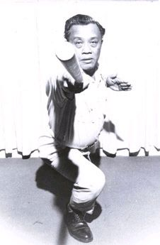 Grandmaster Leo Giron, August 1911-May 2002. Founder of American Largo Mano-style escrima, teacher of such martial arts luminaries as Ted Lucaylucay, Dentoy Revillar, Richard Bustillo, and Dan Inosanto.