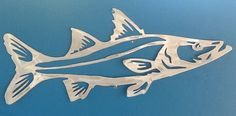 Snook metal game fish art sculpture... Hand drawn and plasma cut aluminum... Www.metalgamefish.com