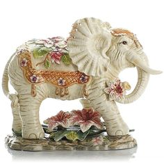 Adorable Ceramic Elephant Standing Home Decoration Ornament Ceramic Elephant, Elephant Love, Elephant Art, Little Elephant, Ceramic Art, Elephant Stuff, Elephant Home Decor, Animal Symbolism, China Painting
