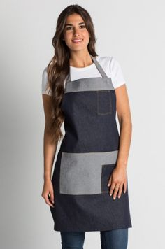 Restaurant Uniforms, Adult Crafts, Sewing Projects For Beginners, Apron, Sewing Patterns, Arts And Crafts, Denim, Crochet, Fashion