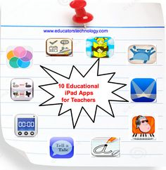 Don't Miss These 10 New Educational iPad Apps ~ Educational Technology and Mobile Learning