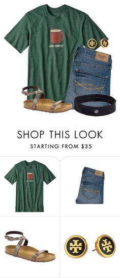"""No exams tomorrow so I get to stay home"" by flroasburn on Polyvore featuring Patagonia, Abercrombie & Fitch, Birkenstock, Tory Burch and lululemon"