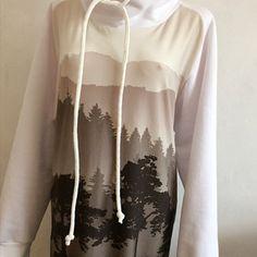 Tuniko-šaty hnědé stromy 54 Ribe, Tunics