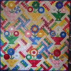 Another horse show ribbon quilt I love! Such a talent to be able to create a quilt like this!#ribbon#quilt #horse#show