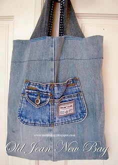 Old Jeans to New Tote