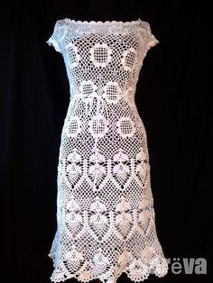 Купить Когда по весне сойдут снега - белый, цветочный, платье летнее, платье, платье вязаное