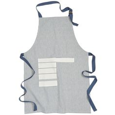 Nordstrom At Home Stripe Cotton Apron (659.430 VND) ❤ liked on Polyvore featuring home, kitchen & dining, aprons, navy denim, pocket apron, stripe apron, striped apron and cotton apron
