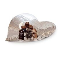 SILVER PLATED Heart Plate by Culinary Concepts | Fill with chocolate for your loved one this Valentine's Day! Available at cuckooland.com