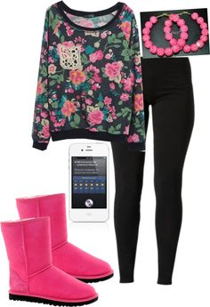 """~Beautifull"" by rocgetsmehigher on Polyvore maybe some pink flats and different earrings"