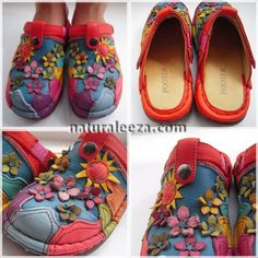 Handmade of leather flower n sun sabo shoes❤ #fashion #online #ladys #hippie #handmade #shoes